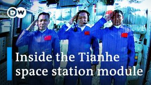 Chinese astronauts dock with Tiangong space station