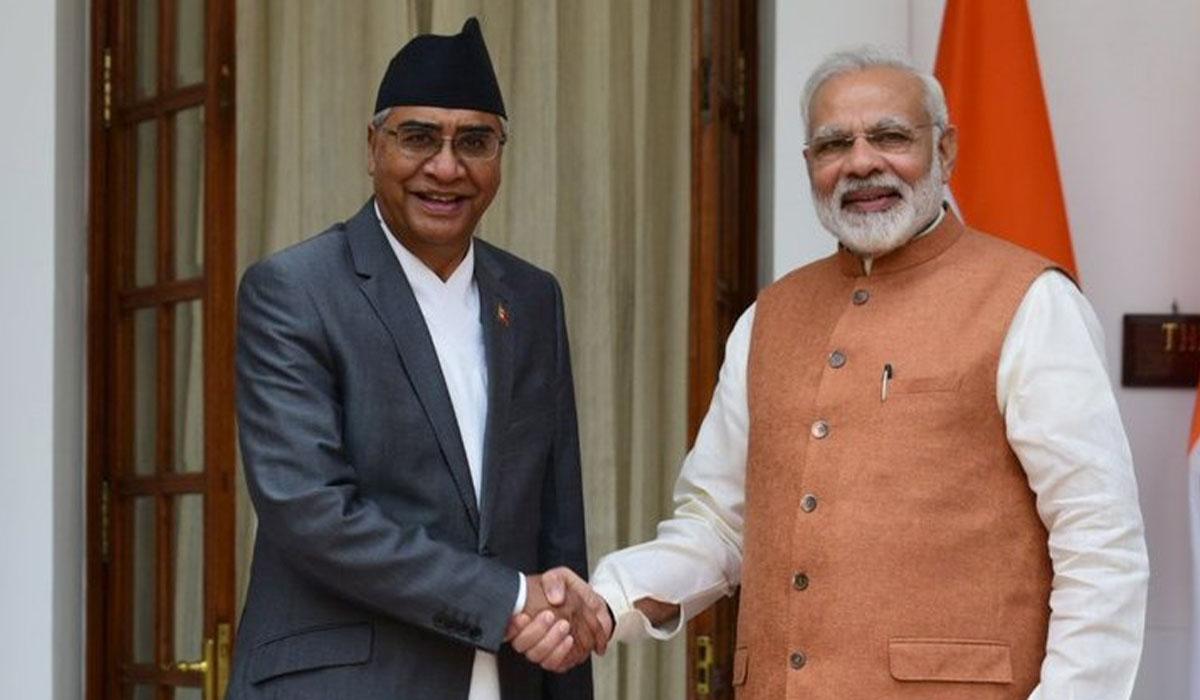 Indian Prime Minister Narendra Modi congratulated Deuba