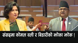 Komal Oli and Bidari in the Parliament!