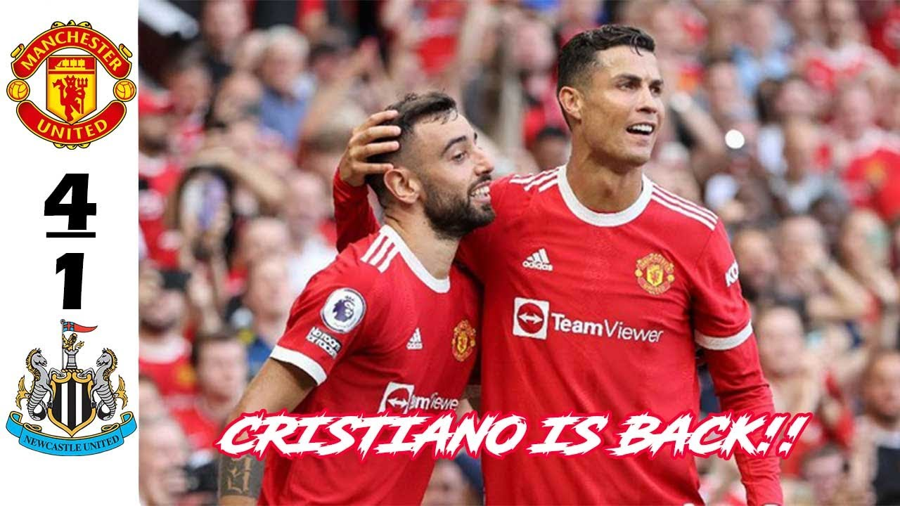 Ronaldo scored two goals in his debut game to give Manchester victory