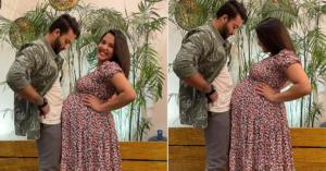 Priyanka and Ayushman showing baby