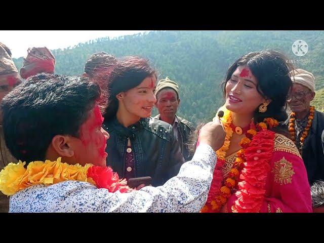 The grand Welcome to Kajal Joshi in Chhatra Shahi's village.