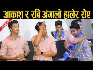 Aakash Shrestha and Rabbi Gahatraj of Voice hugged and cried.