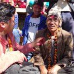 Kajal Joshi and Chhatra Shahi celebrated Dashain in the village.