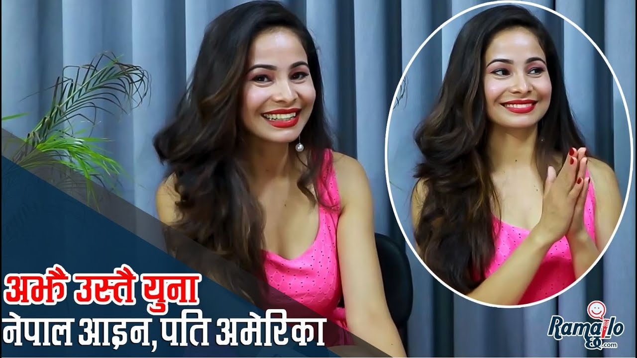 Actress Yuna Uprety  is in Nepal after a year in the US.
